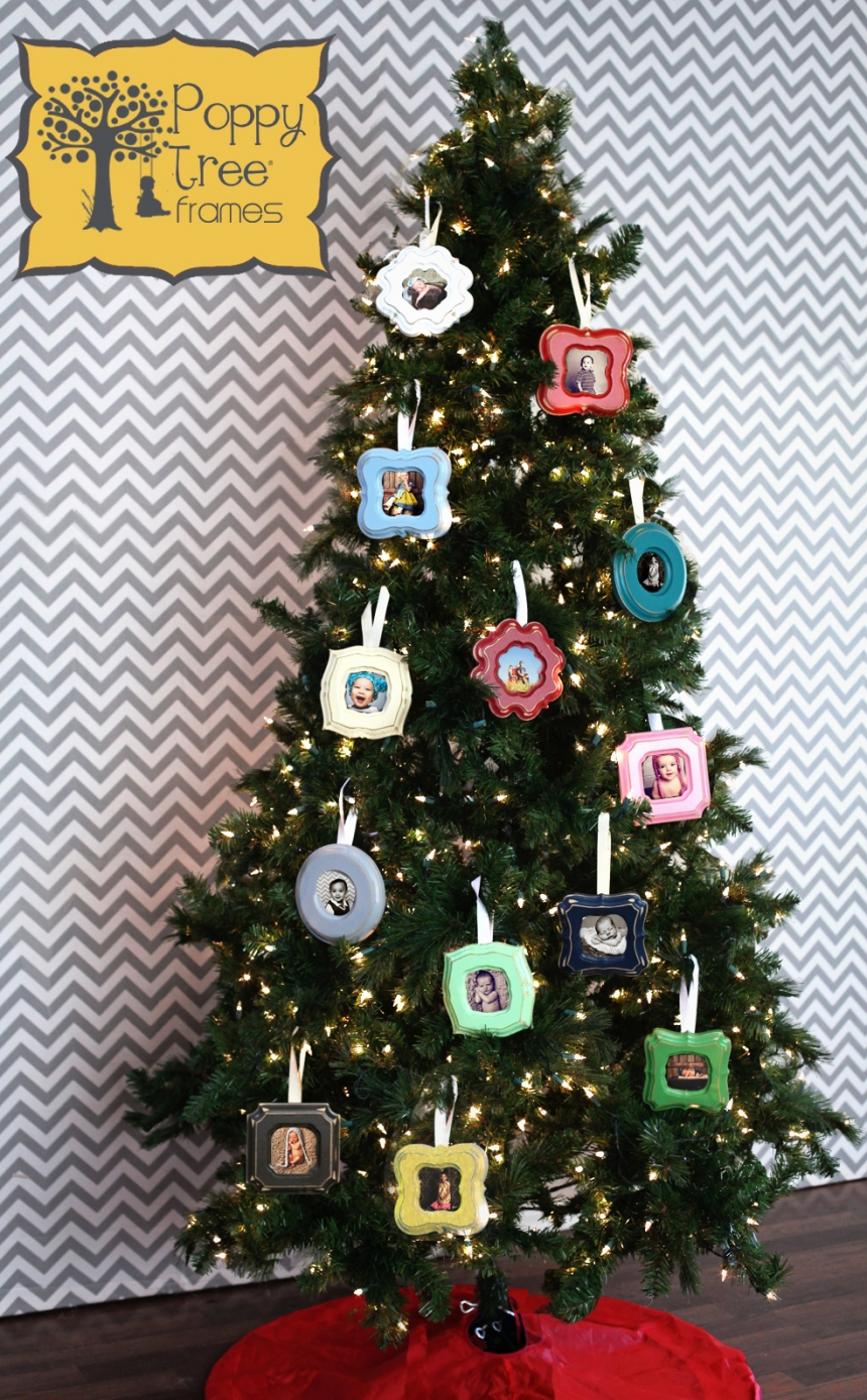 Christmas Tree Ornaments Picture Frames : Christmas ornament frames poppy tree